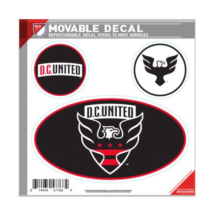 "D.C. United All Surface Decal 6"" x 6"""