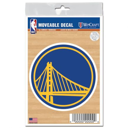 "Golden State Warriors All Surface Decals 3"" x 5"""