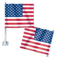 "Patriotic American Flag Car Flag 11.75"" x 14"""