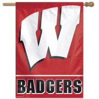 "Wisconsin Badgers Vertical Flag 28"" x 40"""