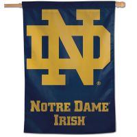 "Notre Dame Fighting Irish logo font Vertical Flag 28"" x 40"""