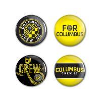 "Columbus Crew SC Button 4 Pack 1 1/4"" Rnd"