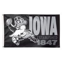 Iowa Hawkeyes / Vintage Collegiate Flag - Deluxe 3' X 5'