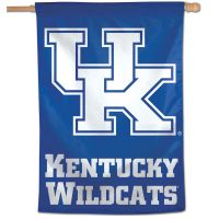 "Kentucky Wildcats LOGO/FONT Vertical Flag 28"" x 40"""