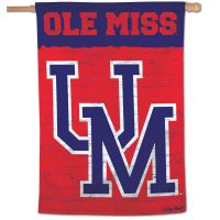 "Ole Miss Rebels /College Vault Vertical Flag 28"" x 40"""