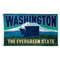 State / Washington Flag - Deluxe 3' X 5'