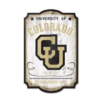 """Colorado Buffaloes / Vintage Collegiate Wood Sign 11"""" x 17"""" 1/4"""" thick"""