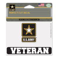 "U.S. Army ""Veteran"" Perfect Cut Color Decal 4.5"" x 5.75"""