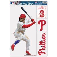 "Philadelphia Phillies Multi Use Decal 11"" x 17"" Bryce Harper"