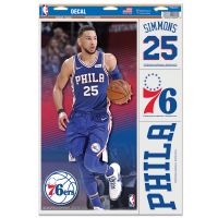 "Philadelphia 76ers Multi Use Decal 11"" x 17"" Ben Simmons"