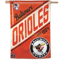 """Baltimore Orioles / Cooperstown cooperstown Vertical Flag 28"""" x 40"""""""
