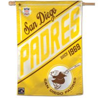 """San Diego Padres / Cooperstown Cooperstown Vertical Flag 28"""" x 40"""""""