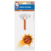 "Phoenix Suns Perfect Cut Decal Set of two 4""x4"" Devin Booker"