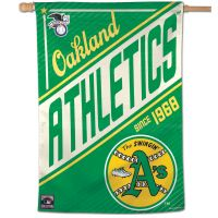 """Oakland A's / Cooperstown Cooperstown Vertical Flag 28"""" x 40"""""""