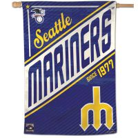 """Seattle Mariners / Cooperstown Cooperstown Vertical Flag 28"""" x 40"""""""