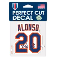 """New York Mets Perfect Cut Color Decal 4"""" x 4"""" Pete Alonso"""