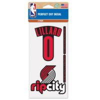 "Portland Trail Blazers Perfect Cut Decal Set of two 4""x4"" Damian Lillard"