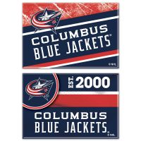 "Columbus Blue Jackets Rectangle Magnet, 2pack 2"" x 3"""