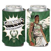 Milwaukee Bucks Can Cooler 12 oz. Giannis Antetokounmpo