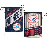 """New York Yankees / Cooperstown Garden Flags 2 sided 12.5"""" x 18"""""""