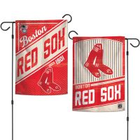 """Boston Red Sox / Cooperstown Garden Flags 2 sided 12.5"""" x 18"""""""