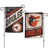 """Baltimore Orioles / Cooperstown Garden Flags 2 sided 12.5"""" x 18"""""""