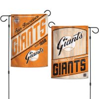 """San Francisco Giants / Cooperstown Garden Flags 2 sided 12.5"""" x 18"""""""