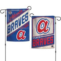 """Atlanta Braves / Cooperstown Garden Flags 2 sided 12.5"""" x 18"""""""
