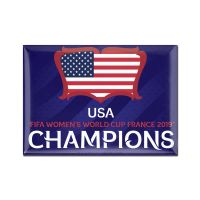 "Women's World Cup Champion Metal Magnet 2.5"" x 3.5"""