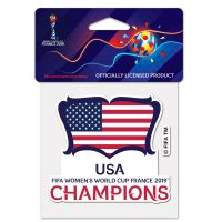 """Women's World Cup Champion Perfect Cut Color Decal 4"""" x 4"""""""