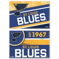 "St. Louis Blues Rectangle Magnet, 2pack 2"" x 3"""