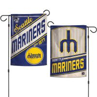 """Seattle Mariners / Cooperstown Garden Flags 2 sided 12.5"""" x 18"""""""