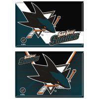 "San Jose Sharks Rectangle Magnet, 2pack 2"" x 3"""