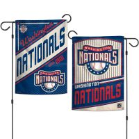 """Washington Nationals / Cooperstown Garden Flags 2 sided 12.5"""" x 18"""""""