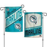 """Miami Marlins / Cooperstown Garden Flags 2 sided 12.5"""" x 18"""""""