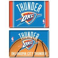 "Oklahoma City Thunder Rectangle Magnet, 2pack 2"" x 3"""