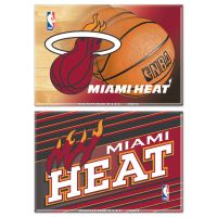 """Miami Heat Rectangle Magnet, 2pack 2"""" x 3"""""""