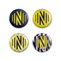"""Nashville SC Button 4 Pack 1 1/4"""" Rnd"""