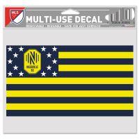 "Nashville SC / Patriotic Americana Multi-Use Decal -Clear Bckrgd 5"" x 6"""