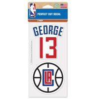 "Los Angeles Clippers Perfect Cut Decal Set of two 4""x4"" Paul George"