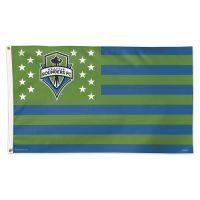 Seattle Sounders / Patriotic Americana Flag - Deluxe 3' X 5'