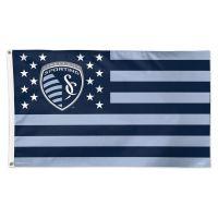 Sporting Kansas City / Patriotic Americana Flag - Deluxe 3' X 5'