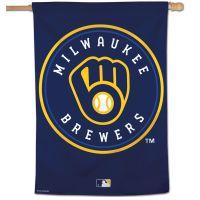 "Milwaukee Brewers Vertical Flag 28"" x 40"""
