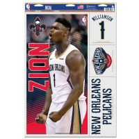 "New Orleans Pelicans Multi Use Decal 11"" x 17"" Zion Williamson"