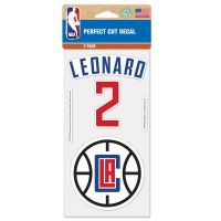 "Los Angeles Clippers Perfect Cut Decal Set of two 4""x4"" Kawhi Leonard"