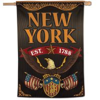 "State / New York Vertical Flag 28"" x 40"""