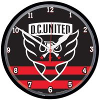 D.C. United Round Wall Clock 12.75""