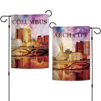 "City / Ohio COLUMBUS Garden Flags 2 sided 12.5"" x 18"""