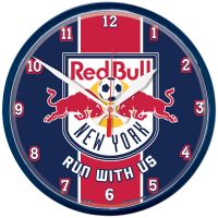 New York Red Bulls RUN WITH US Round Wall Clock 12.75""