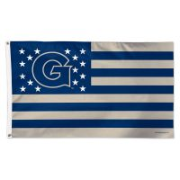 Georgetown Hoyas / Stars and Stripes NCAA Flag - Deluxe 3' X 5'